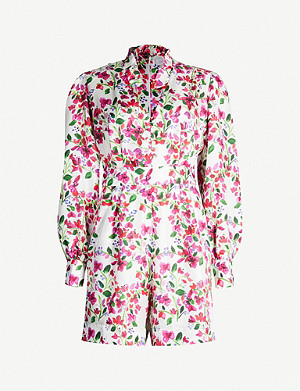 SEREN Minnie floral-print playsuit
