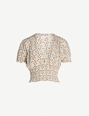 FAITHFULL THE BRAND First Light floral-print rayon crop top