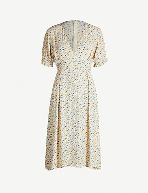 FAITHFULL THE BRAND Farah floral-print rayon dress