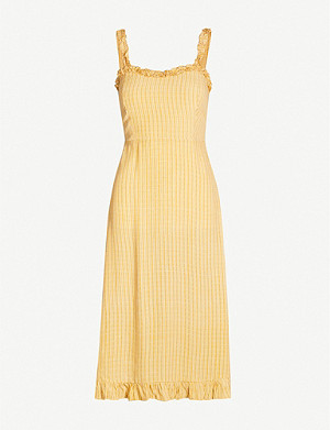 FAITHFULL THE BRAND Noemie checked rayon dress
