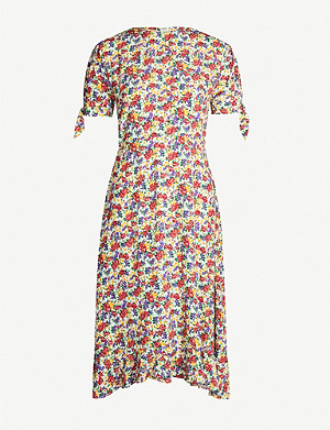 FAITHFULL THE BRAND Emilia rayon midi dress