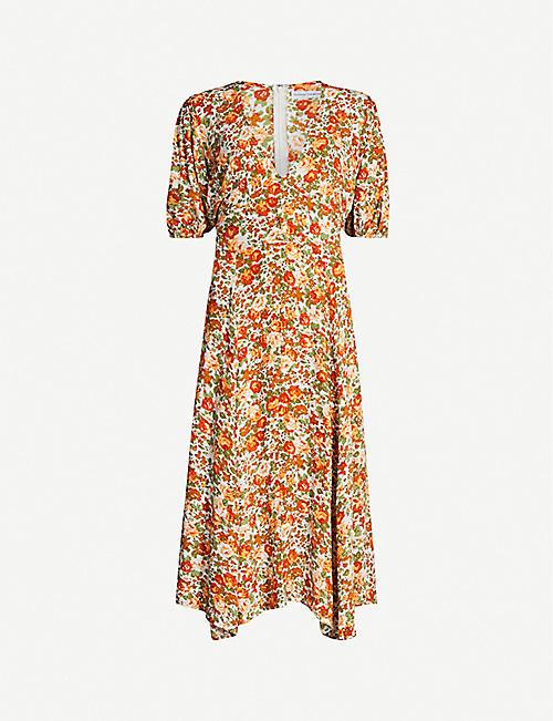 368dcb515f011 FAITHFULL THE BRAND Delia floral-print crepe midi dress