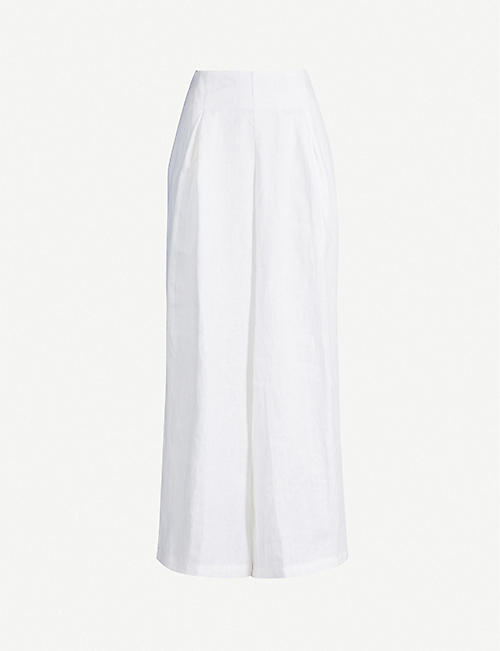 FAITHFULL THE BRAND Meridian wide high-rise linen trousers
