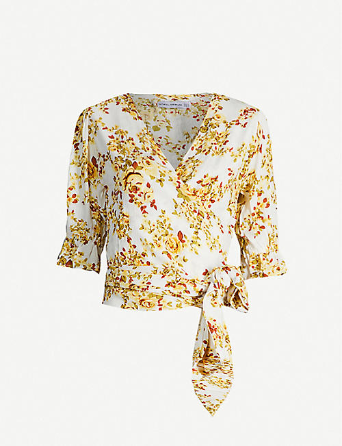 37959112 FAITHFULL THE BRAND Mali floral-print rayon wrap top