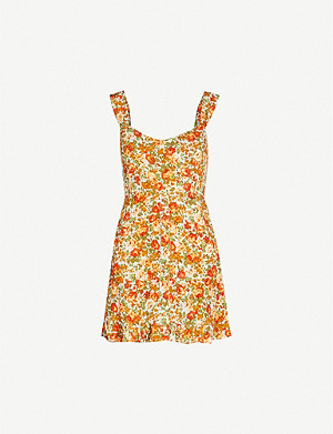 FAITHFULL THE BRAND Lou Lou floral-print crepe mini dress