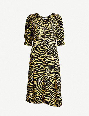 FAITHFULL THE BRAND Rafa zebra-print rayon midi dress