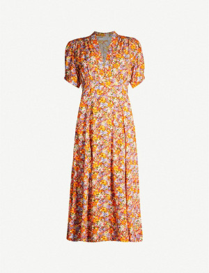 FAITHFULL THE BRAND Meadows floral-print rayon midi dress