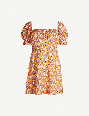 FAITHFULL THE BRAND Iris floral-print rayon mini dress