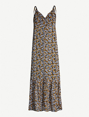 GESTUZ Georgina floral-print crepe dress