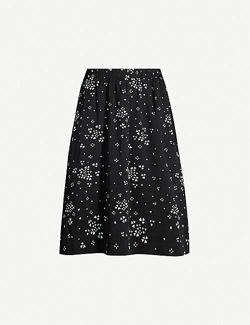 bf3312501837 GESTUZ Cindy heart-print recycled polyester midi skirt