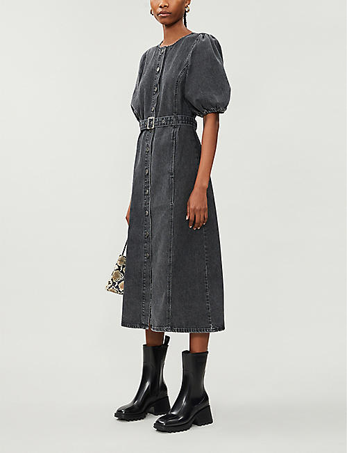 GESTUZ Sienta denim midi dress