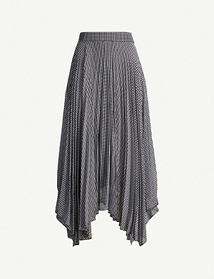 CAMILLA AND MARC Gingham high-waist woven midi skirt