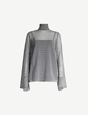 CAMILLA AND MARC Miri gingham-print woven top