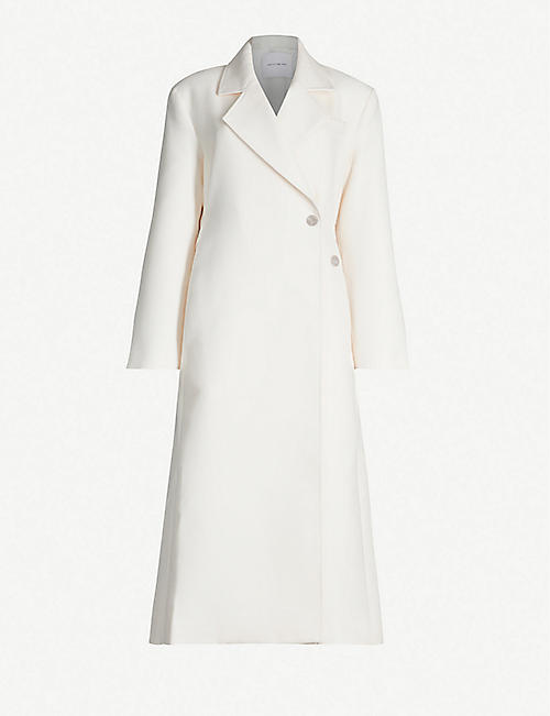 CAMILLA AND MARC Meave padded-shoulder twill coat