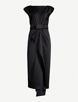 CAMILLA AND MARC Aspen knotted-waist satin midi dress