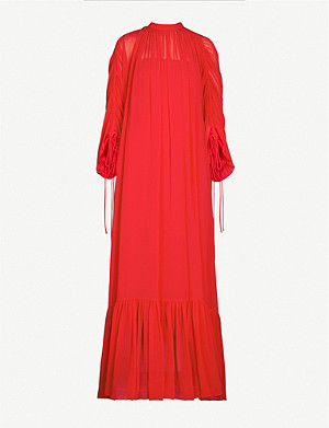 CAMILLA AND MARC Catalina puffed-sleeve woven maxi dress