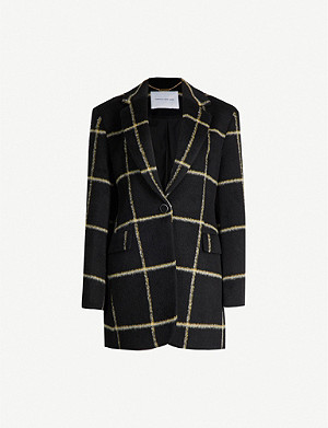 CAMILLA AND MARC Sadie checked faux-fur blazer