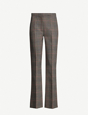 CAMILLA AND MARC Nebula checked high-rise flared twill trousers