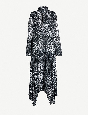 CAMILLA AND MARC Dali high neck printed crepe midi dress