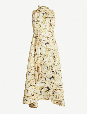CAMILLA AND MARC Caspian sleeveless fitted crepe midi dress