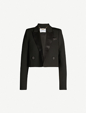 CAMILLA AND MARC Demarco double-breasted cropped stretch-crepe blazer