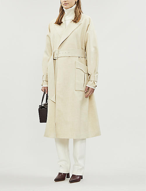 CAMILLA AND MARC Theo woven trench coat