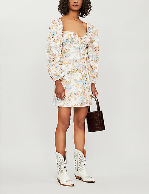 OLIVIA ROSE THE LABEL Shirley floral-print cotton mini dress