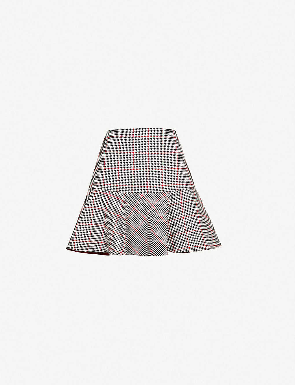 75474ba5a RED VALENTINO - Houndstooth flared cotton-blend mini skirt ...