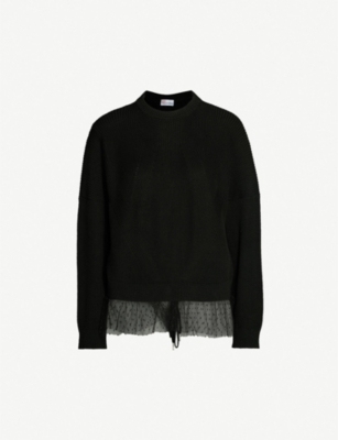 RED VALENTINO Tulle cotton-knit jumper