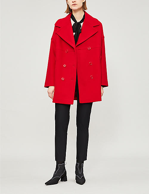 RED VALENTINO Double-breasted cotton-blend coat