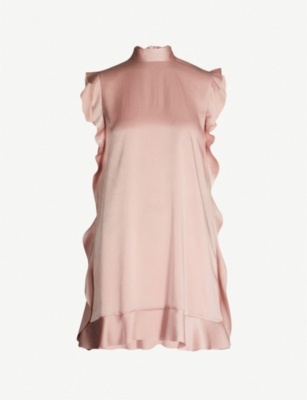 RED VALENTINO High-neck satin dress