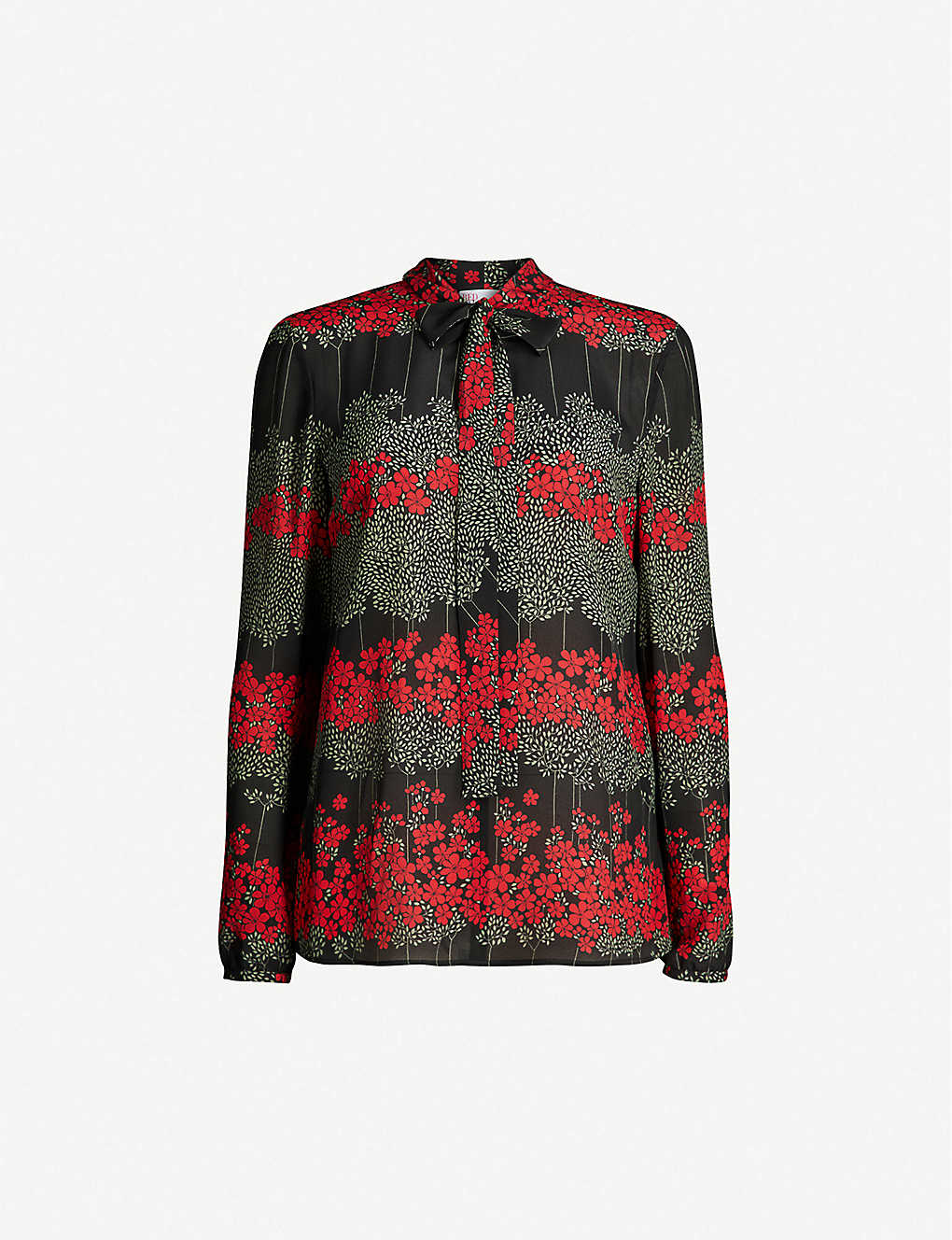 51b1d5dc5f3702 RED VALENTINO - Dreaming Peony floral-print silk-crepe top ...