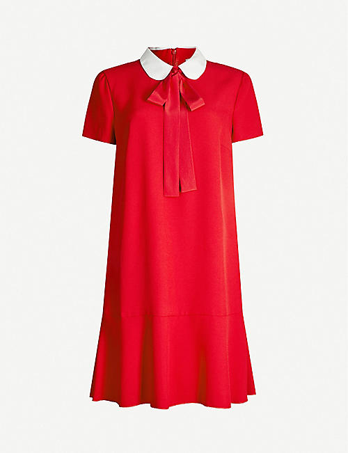 RED VALENTINO Neck-tie crepe dress