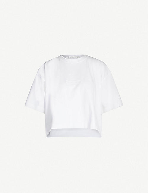 ACNE STUDIOS Cylea logo-embossed cotton-jersey T-shirt