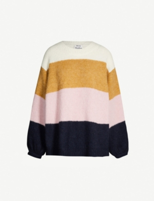 ACNE STUDIOS Kazia striped knitted jumper