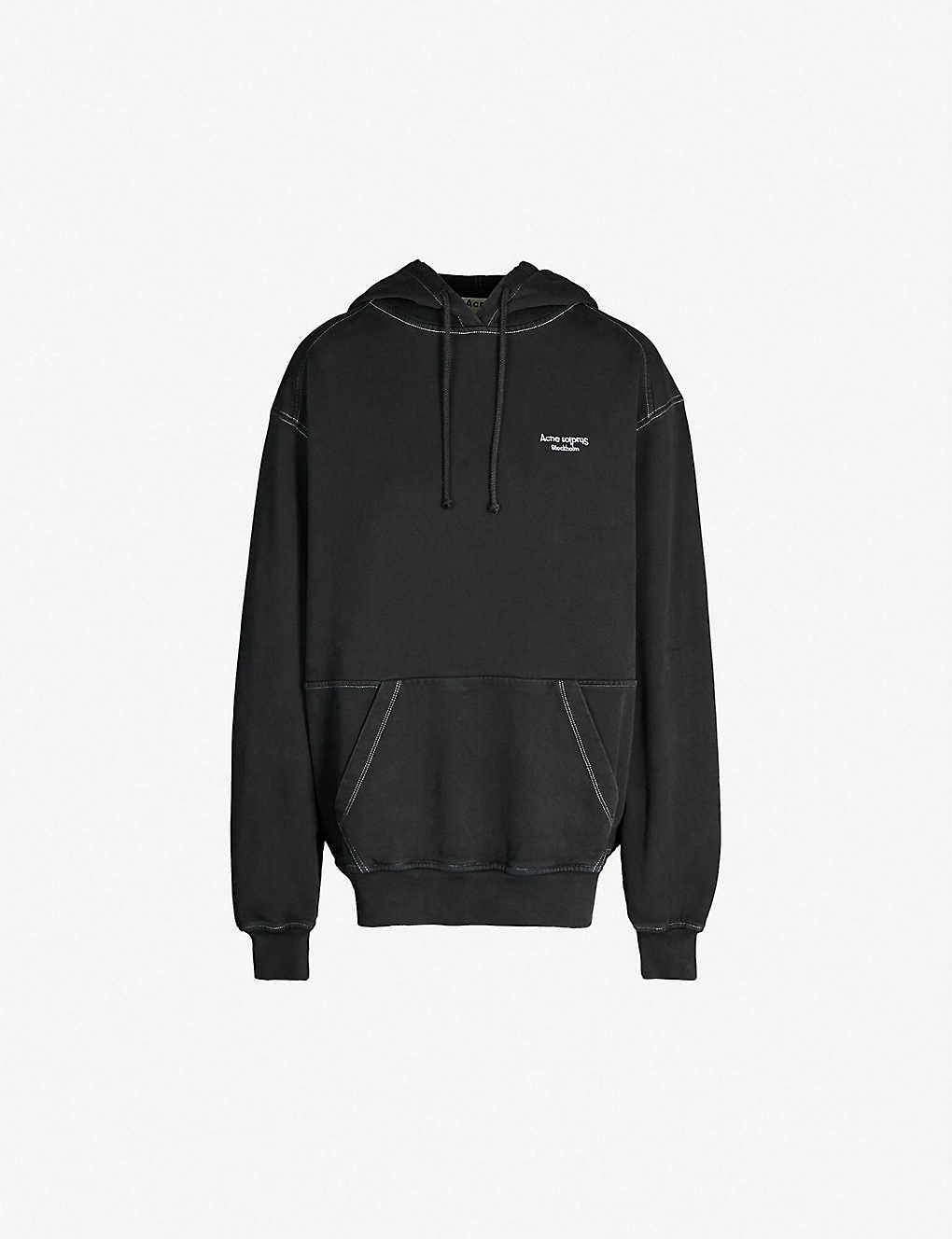 Acne Studios Tops Wena faded cotton-jersey hoody