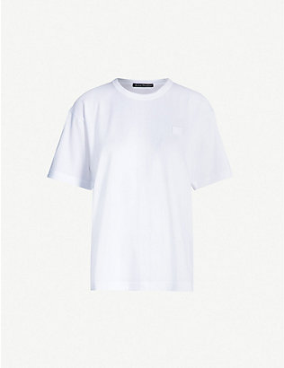 ACNE STUDIOS: Nash Face oversized cotton-jersey T-shirt