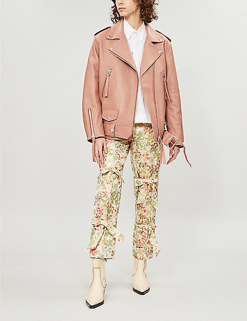 ACNE STUDIOS New Myrtle asymmetric leather jacket