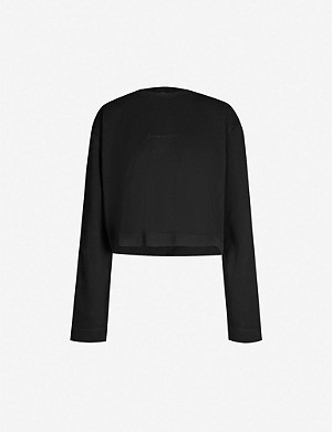 ACNE STUDIOS Odice logo-embossed cotton-jersey sweatshirt