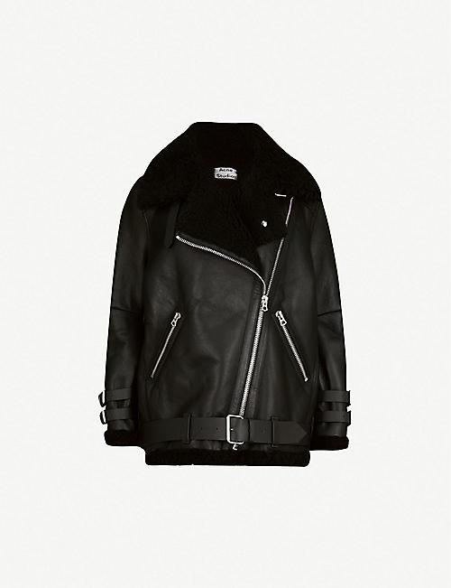 Leather Jackets Jackets Coats Jackets Clothing Womens