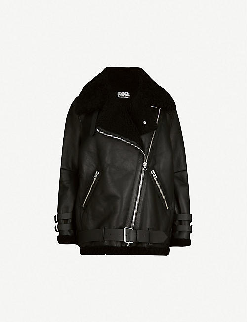super popular 2d91e 42bc8 ACNE STUDIOS Velocite shearling and leather aviator jacket