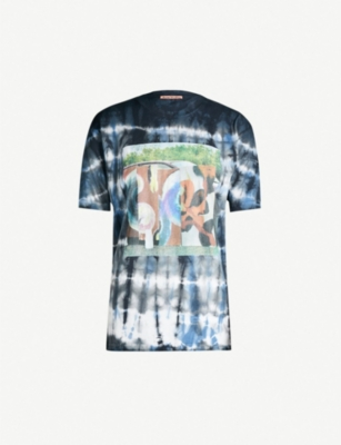 ACNE STUDIOS Graphic-print tie-dye cotton T-shirt