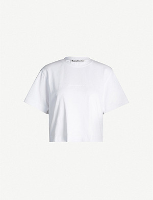 ACNE STUDIOS Ecylea logo-embossed cotton-jersey T-shirt