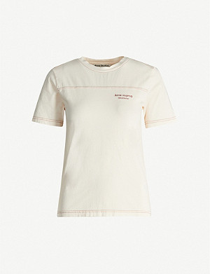 ACNE STUDIOS Ewan logo-embroidered cotton-jersey T-shirt