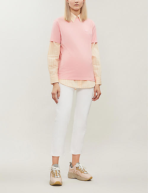 ACNE STUDIOS Ellison patch-embroidered cotton T-shirt