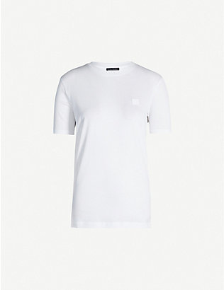 ACNE STUDIOS: Ellison patch-embroidered cotton T-shirt