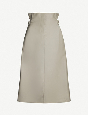 ACNE STUDIOS Ippy pleated high-waist wool-blend mini skirt