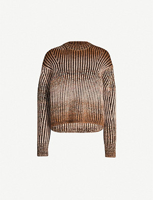 ACNE STUDIOS Kamia dropped shoulders knitted jumper