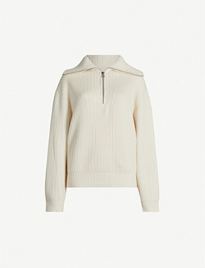ACNE STUDIOS Kelanie funnel-neck ribbed wool-blend jumper