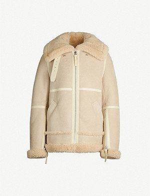 ACNE STUDIOS Pannelled shearling jacket